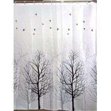 Trees Little Bird Shower Curtain