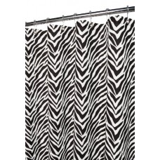 Zebra Shower Curtain, 70-inch By 70-inch