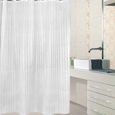 Simplicity but Not Simple Polyester Shower Curtain 72-inch By 72-inch,White