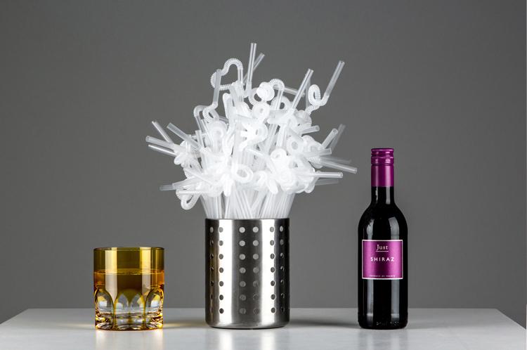 MyLifeUNIT Disposable Transparent Straw, Bendable, 100pcs
